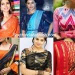 Rock Your Sarees With Ikat Blouses