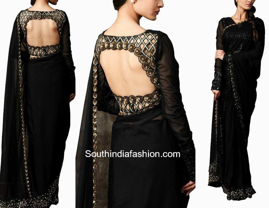 Simple Sarees with Designer Blouses – South India Fashion