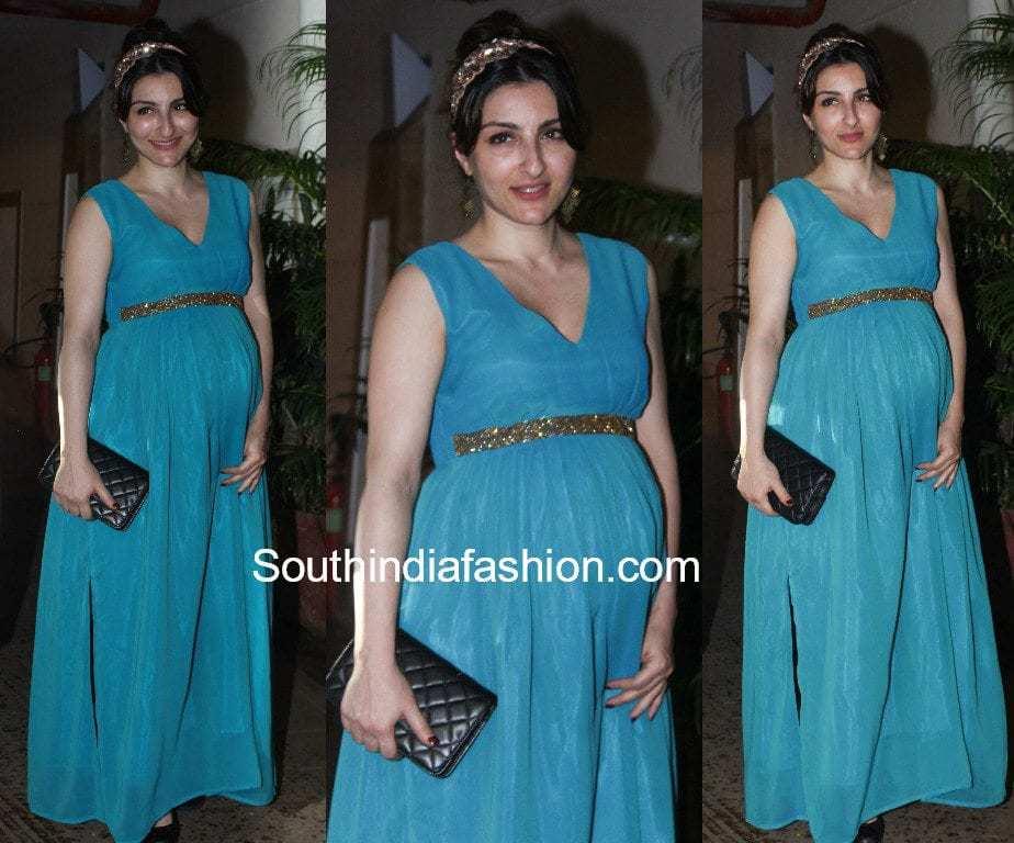 soha ali khan pregnancy dress