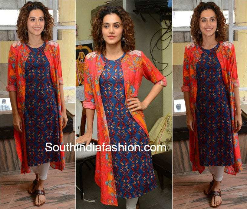 taapsee pannu in salwar suit with jacket