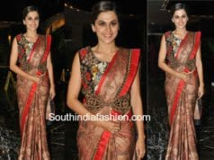 taapsee pannu saree anando brahma pre release event