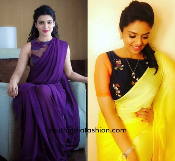 ultimate blouse choices for plain sarees