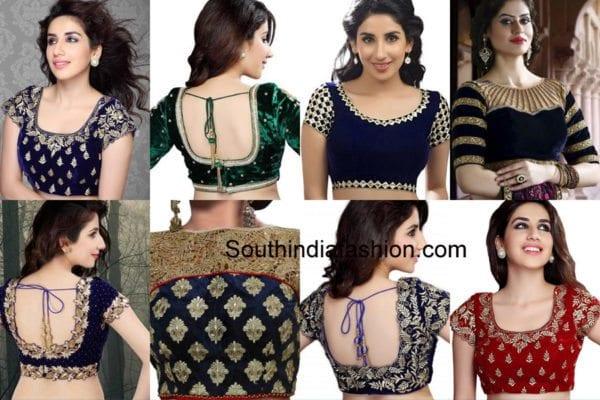 velvet-saree-blouses