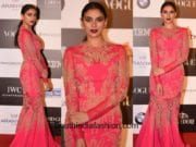 Aditi Rao Hydari in Basil Soda gown at Vogue Women Of The Year Awards 2017