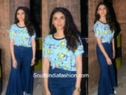 Aditi Rao Hydari in Only and SR Store for Bhoomi Promotions