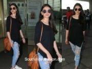 Aditi Rao Hydari in western wear at the airport