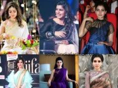 samantha prabhu saree blouse designs