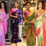 Dress Up Like Your Favorite Celebs In Kanjeevaram Sarees This Festive Season