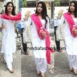 Jhanvi Kapoor in a Chikankari Salwar Suit