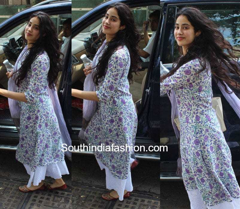 Jhanvi Kapoor In A Palazzo Suit South India Fashion