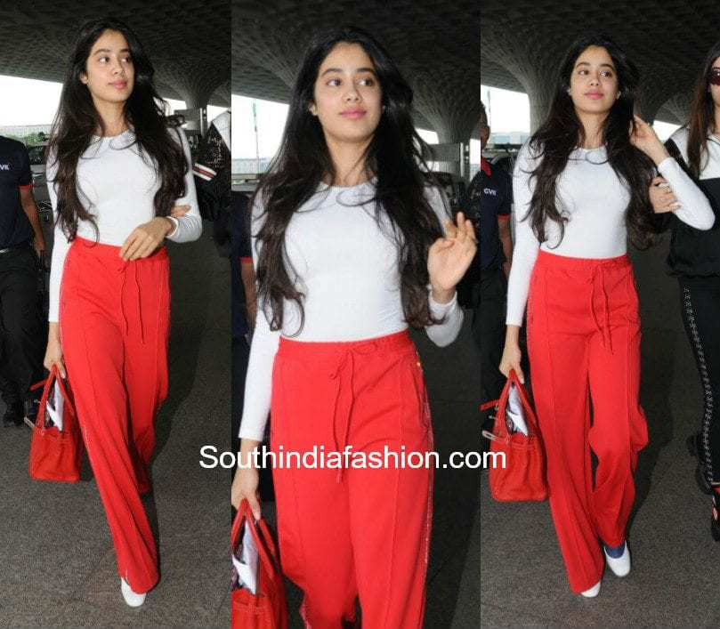 Jhanvi Kapoor in western wear at the airport