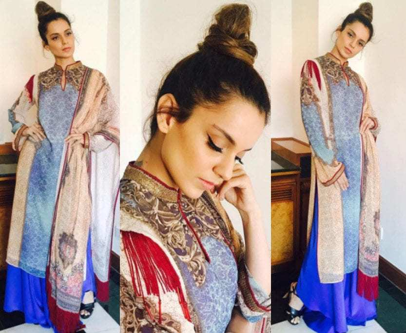 Kangana Ranaut in Tarun Tahiliani for Simran Promotions
