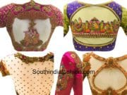 latest maggam work blouse designs for pattu silk sarees needle eye boutique