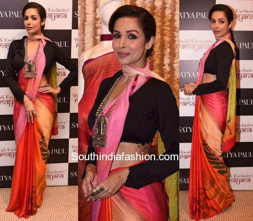 Malaika Arora Khan in Satya Paul at the new collection launch
