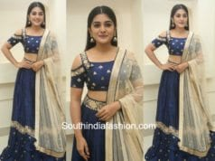 Niveda Thomas in Mishru Designs at Jai Lava Kusa Pre Release 1