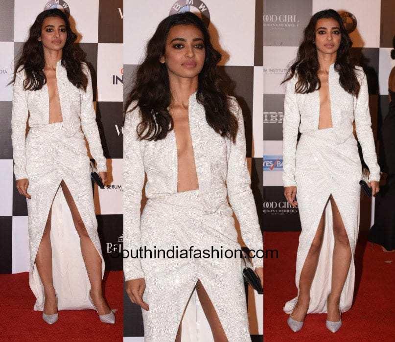 Radhika Apte in Julien MacDonald at Vogue Women Of The Year Awards