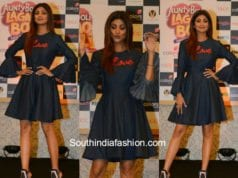 Shilpa Shetty in Mayyur Girotra at colors show launch
