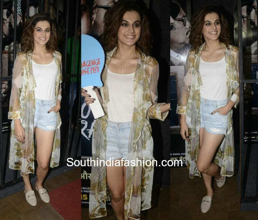 Taapsee Pannu in Farah Sanjana for Lucknow Central Screening