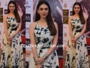 aditi rao hydari bhoomi promotions maxi dress