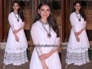 aditi rao hydari in white sharara at sanjay dutt eid party 2017