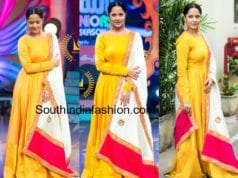anchor anasuya yellow anarkali drama juniors