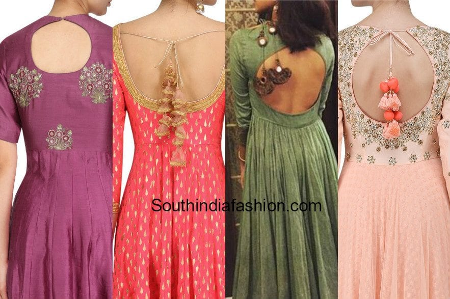 5 Latest Back Neck Designs For Salwar Kameez And Anarkalis South India Fashion