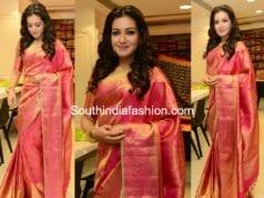 catherine tresa pattu saree at klm fashion mall launch