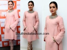 catherine tresa pink salwar eledent hospitals inauguration