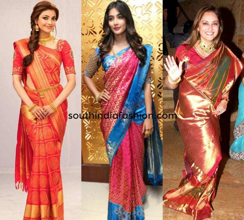 Celebrities in Kanjeevaram Sarees