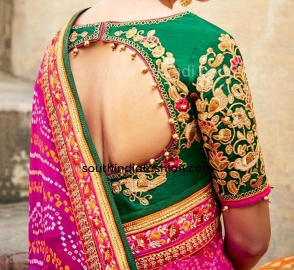 exotic blouses for fancy sarees