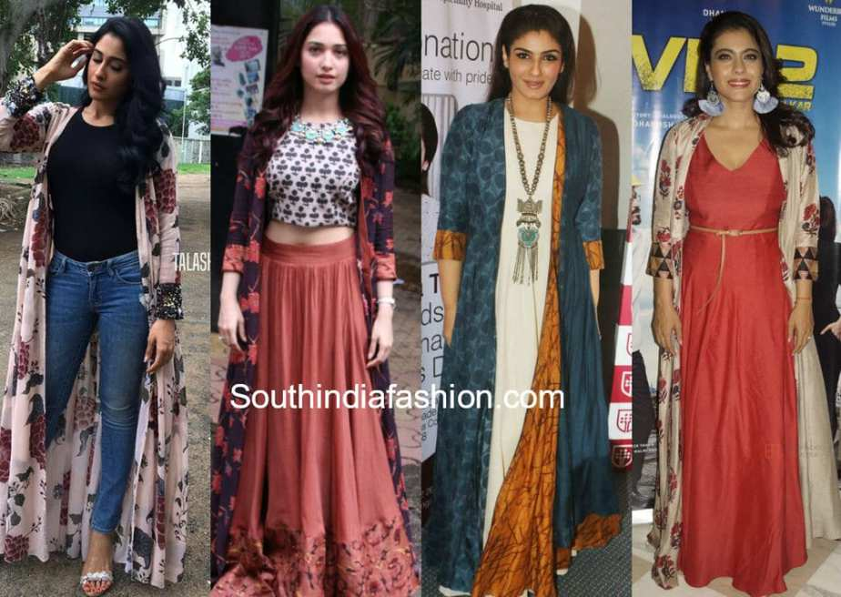 different ways to style indian long jackets