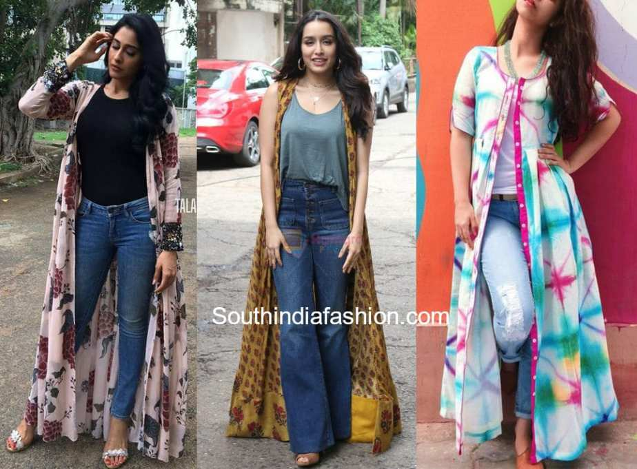 indian long jackets with jeans
