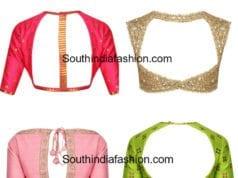 latest blouse back neck designs