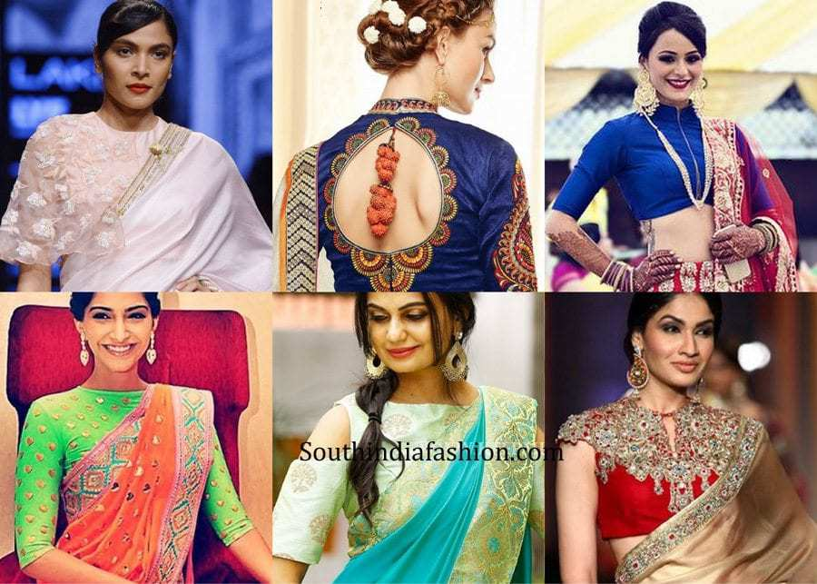 latest designer blouses 2017