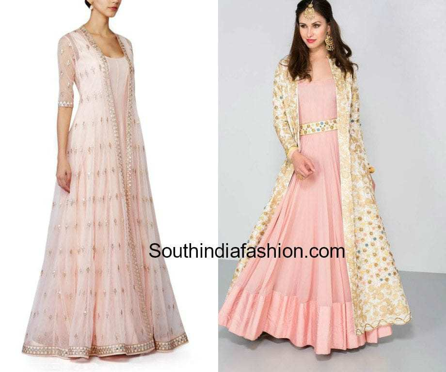 long jackets with floor length anarkalis