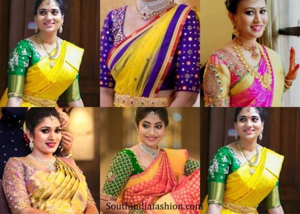 elbow-length-maggam-work-blouse-designs-for-pattu-sarees