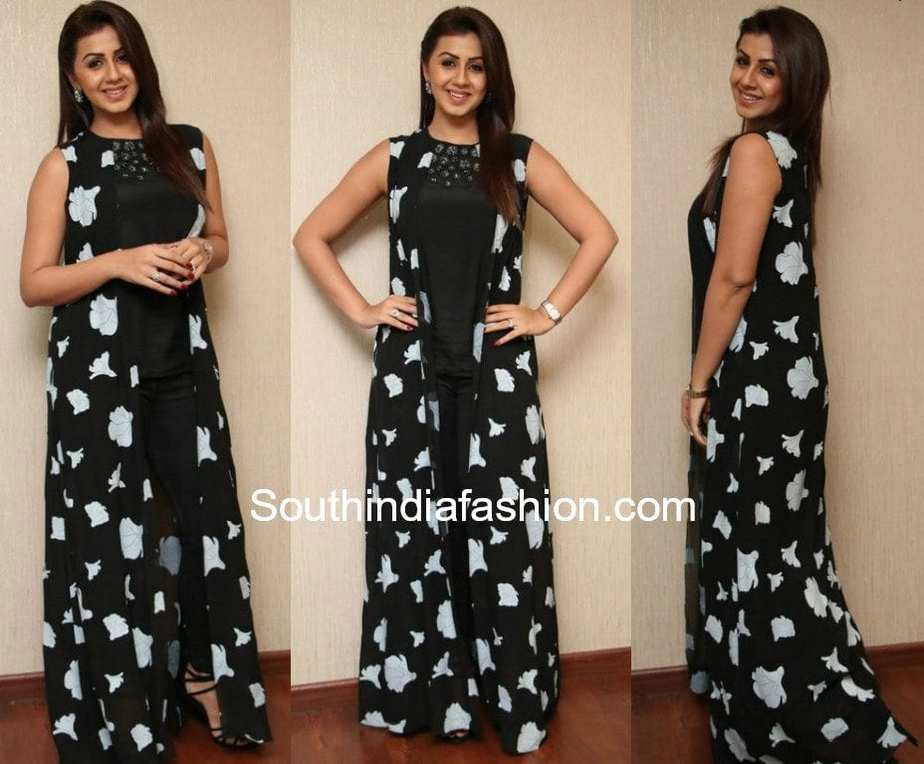 nikki galrani hara hara mahadevaki promotions black dress