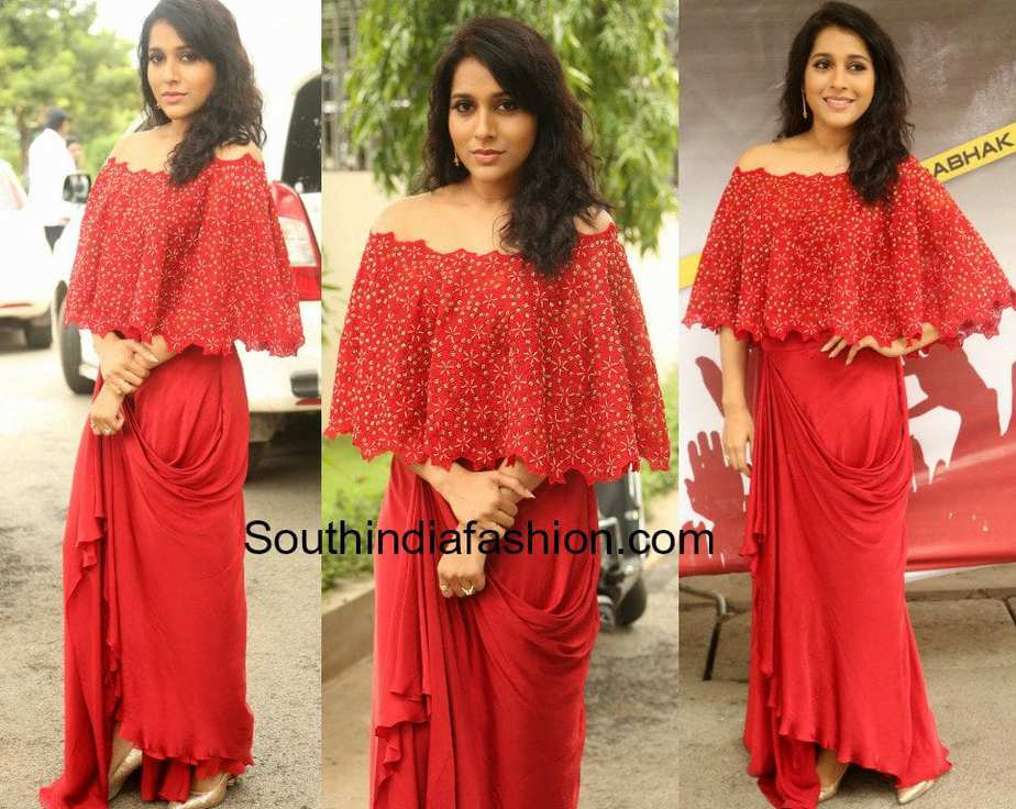 rashmi gautam at next nuvve trailer launch in sashi vangapally red dress
