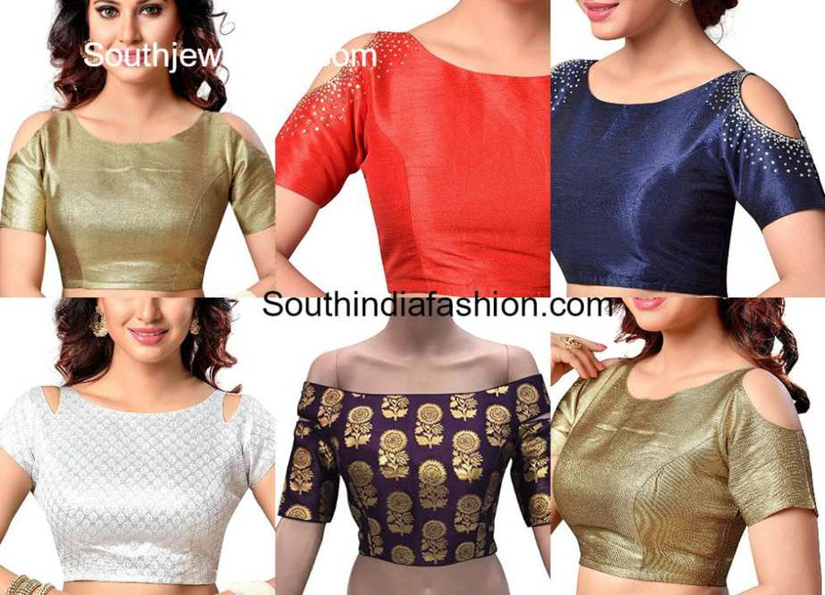 Readymade Cold Shoulder Blouses South India Fashion