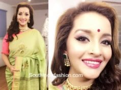 renu desai green saree anitha reddy tv9 interview