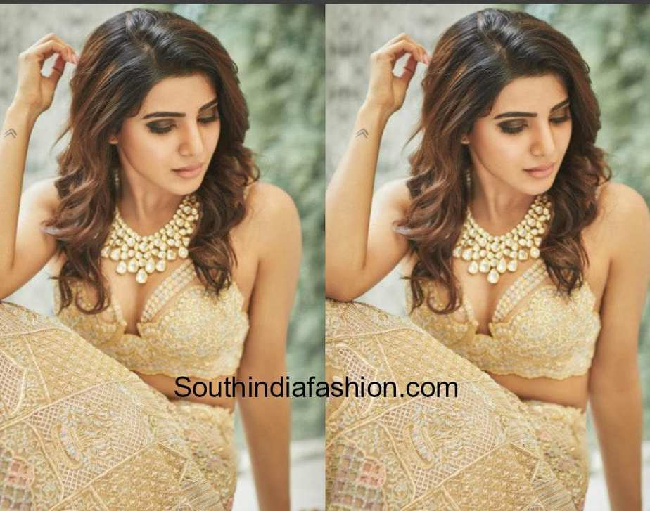 samantha prabhu wedding lehenga by koecsh