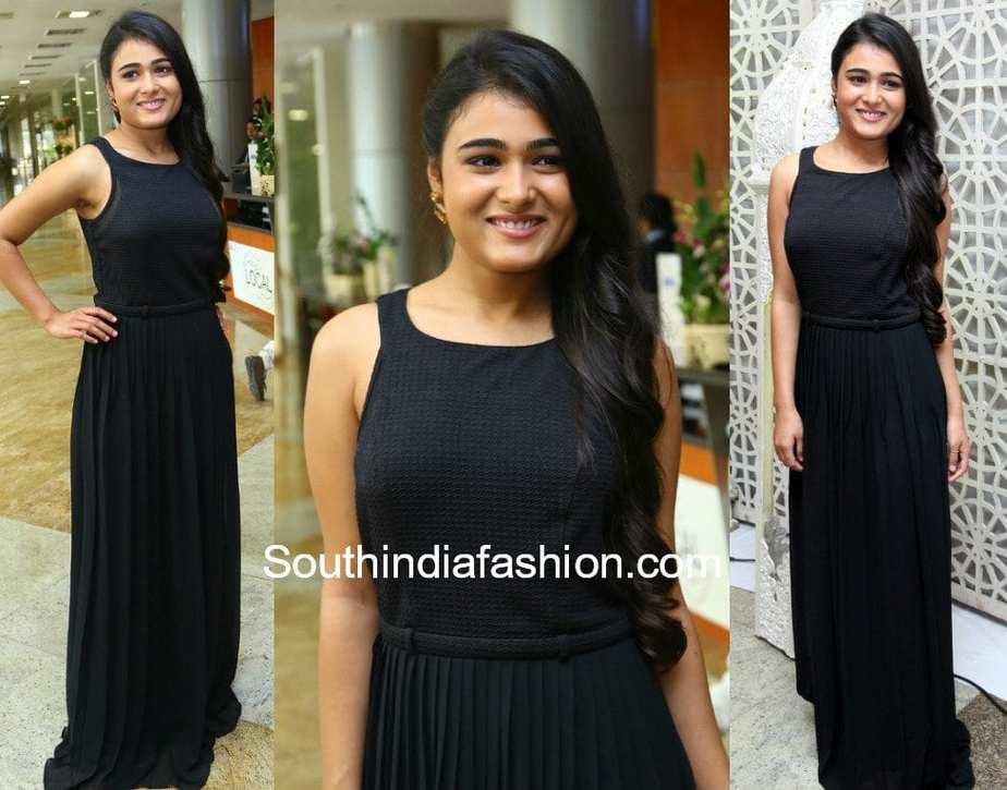 shalini pandey black maxi dress