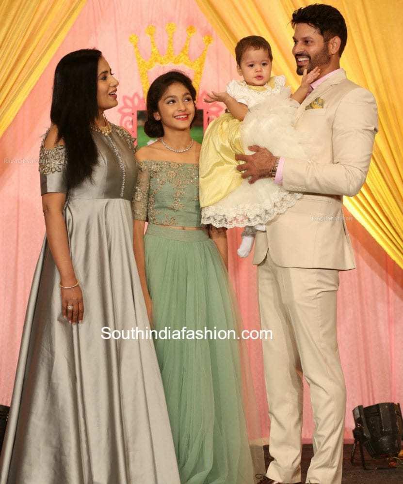vidya rao sridhar daughter first birthday party