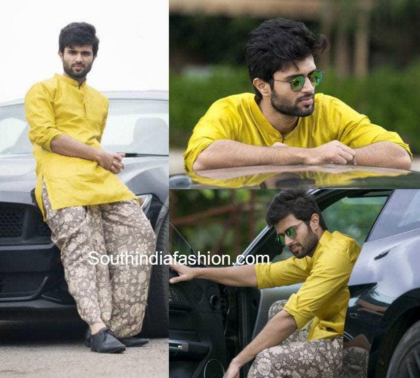 vijay devarakonda dhoti and shirt