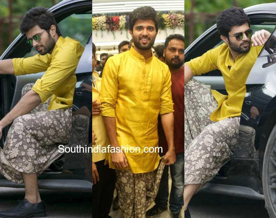 vijay devarakonda dhoti shirt