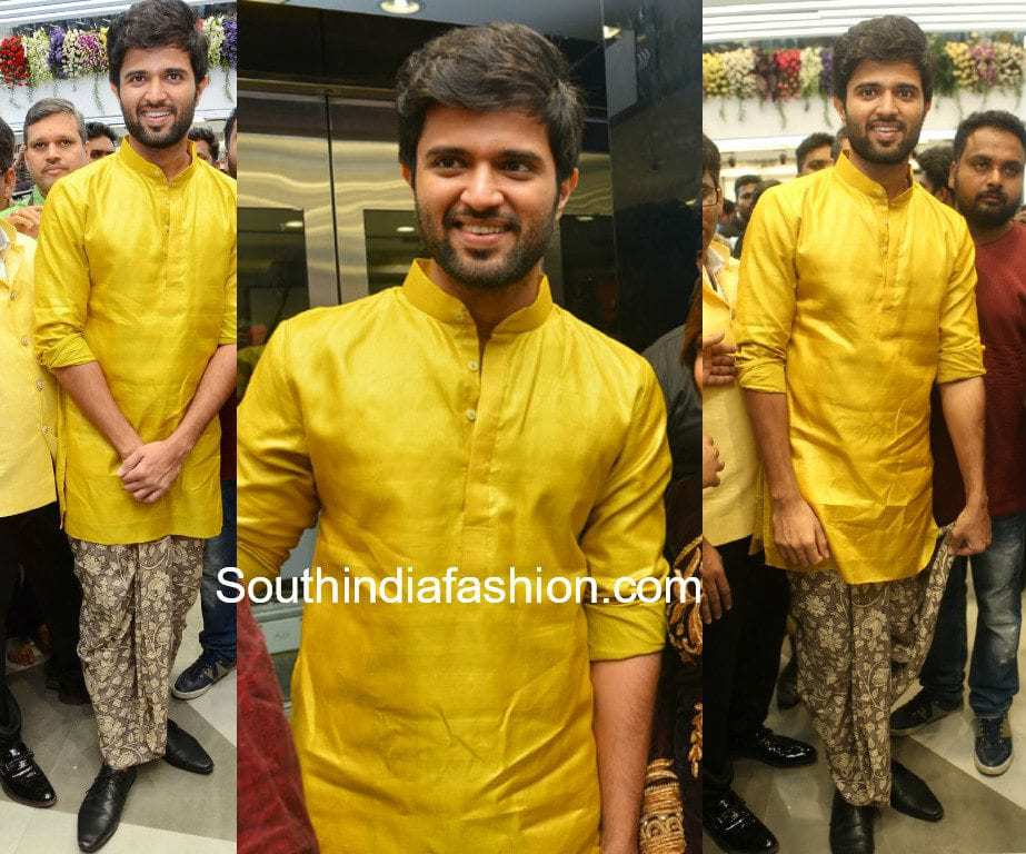 vijay devarakonda dhoti and shirt at klm mall launch