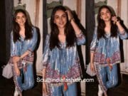 Aditi Rao Hydari in Hemant and Nandita for a movie screening