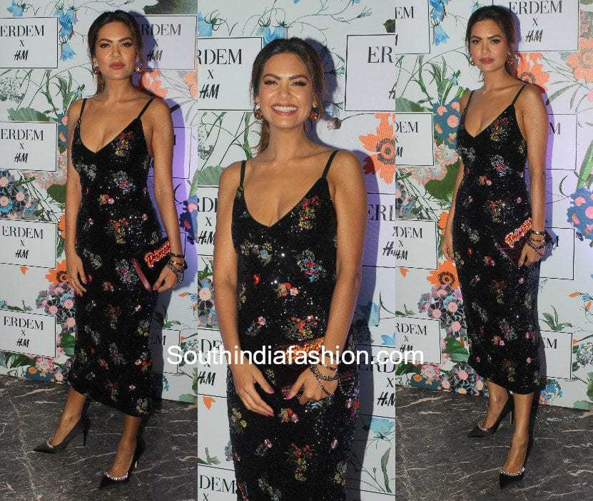 Esha Gupta in Erdem x H&M at the preview event of the label