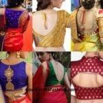 10 Interesting Back Neck Designs For Pattu Saree Blouses