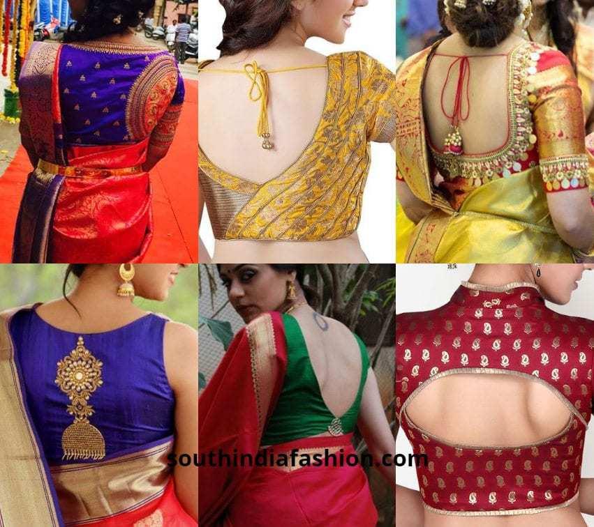 10 Interesting Back Neck Designs For Pattu Saree Blouses,Designer Skin Tanning Lotion